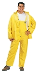 3 Piece Yellow PVC Rain Suit