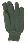 Green Knit Wrist Chore Gloves Dozen