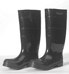 Black PVC Steel Toe Boots