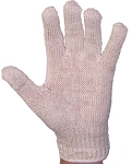White Stringknit Gloves Dozen