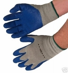 Heavyweight Blue Latex Coated Gloves Case of 144 Pairs