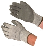 Heavyweight Grey Latex Coated Gloves w/Thermal Lining Case of 144 Pairs