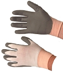 PU Coated Gloves Grey on White Dozen