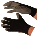PU Coated Gloves Grey on Black Dozen