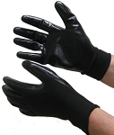 Nitrile Coated  Gloves Black on Black Case of 144 Pairs