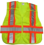 ANSI 207 Public Safety Vest Lime / Orange