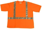 ANSI 107 Class 2 Safety T-Shirt Orange