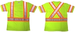 ANSI 107 Class 3 Safety T-Shirt Lime