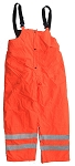 ANSI 107 Class E Waterproof Safety Pants Bib Orange