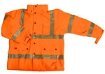 ANSI 107 Class 3 Safety Windbreaker Jacket Orange