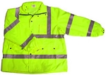 ANSI 107 Class 3 Safety Windbreaker Jacket Lime