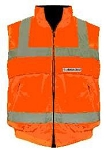 ANSI 107 Class 2 Body Warmer Vest Jacket Orange
