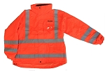 ANSI 107 Class 3 Safety 3-in-1 Parka Jacket Orange - X Back