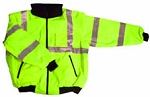 ANSI 107 Class 3 Safety Bomber Jacket Lime