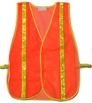 ANSI 107 Class 1 Safety Vest Orange
