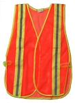 ANSI 107 Class 1 Safety Vest Orange - Two Tone
