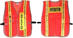 ANSI 107 Class 1 Contractor Safety Vest Orange - Two Tone
