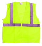 ANSI 107 Class 2 Safety Vest Lime w/Velcro