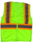 ANSI 107 Class 2 Safety Vest Lime - Two Tone