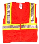 ANSI 107 Class 2 Safety Vest Orange - Two Tone