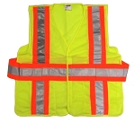 ANSI 107 Class 2 Safety Vest Lime - Expandable / Breakaway