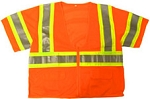 ANSI 107 Class 3 Safety Vest Orange - Two Tone
