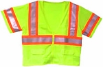 ANSI 107 Class 3 Mesh Safety Vest Lime - Two Tone