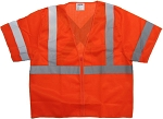 ANSI 107 Class 3 Safety Vest Orange - X Back