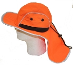 Hi Viz Safety Shade Hat Orange