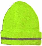 Hi Viz Beanie Lime with Fleece Lining