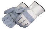 Premium Leather Double Palm Gloves Pair