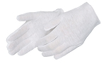 White Cotton Lisle Inspection Gloves Dozen
