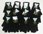 Magic Gloves Adult Black 1 Dozen Pairs