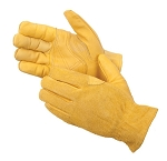 Golden Grain Cowhide Driver Glove Pair