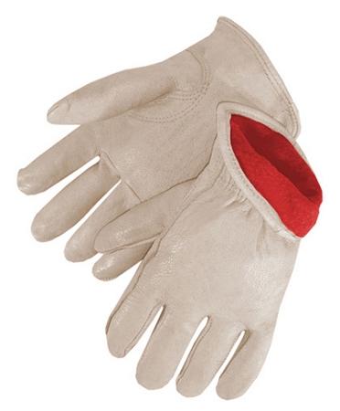 Standard Grain Pigskin Driver Glove Fleece Lined Pair