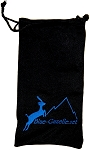 Blue Gazelle Black Soft Nylon Glasses Bag Carrier Case Pouch