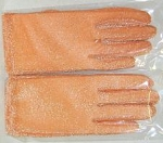 Ladies Orange Sequined Formal Gloves