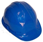 Hardhat Safety Helmet 6 Point Ratcheted Blue
