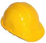 Hardhat Safety Helmet 6 Point Ratcheted Yellow