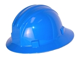 Hardhat Safety Helmet Full Brim 4 Point Ratcheted Blue