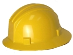 Hardhat Safety Helmet Full Brim 4 Point Ratcheted Yellow