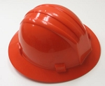 Hardhat Safety Helmet Full Brim 4 Point Ratcheted Orange