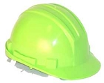 Hardhat Safety Helmet 6 Point Ratcheted Lime Green