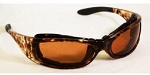 EOS Convertible Safety Glasses Mocha Brown Lenses