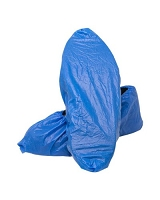 CPE Polyethylene Blue Shoe Covers Pack 100