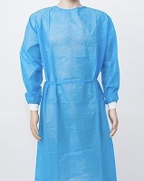 POLYETHYLENE OVER POLYPROPYLENE (PE OVER PP)  LEVEL 2 BLUE ISOLATION GOWN   CASE OF 100 PIECES