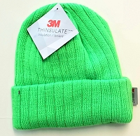 Hi Viz Fluorescent Lime Winter Knit Beanie Hat with 3M Thinsulate Lining
