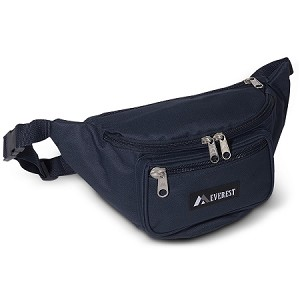 Everest Large Fanny Waist Pack Navy Blue