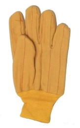 Yellow Knit Wrist Chore Gloves 120 Pairs Case 12321