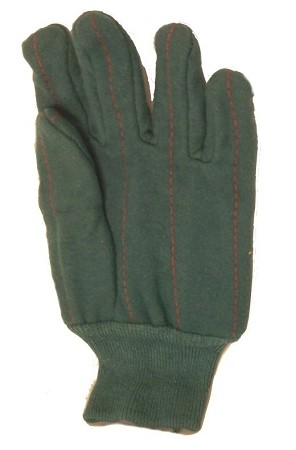 Green Knit Wrist Chore Gloves 120 Pairs Case 12421